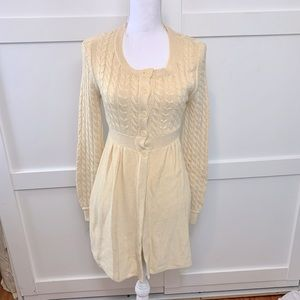 Knitted sweater coat